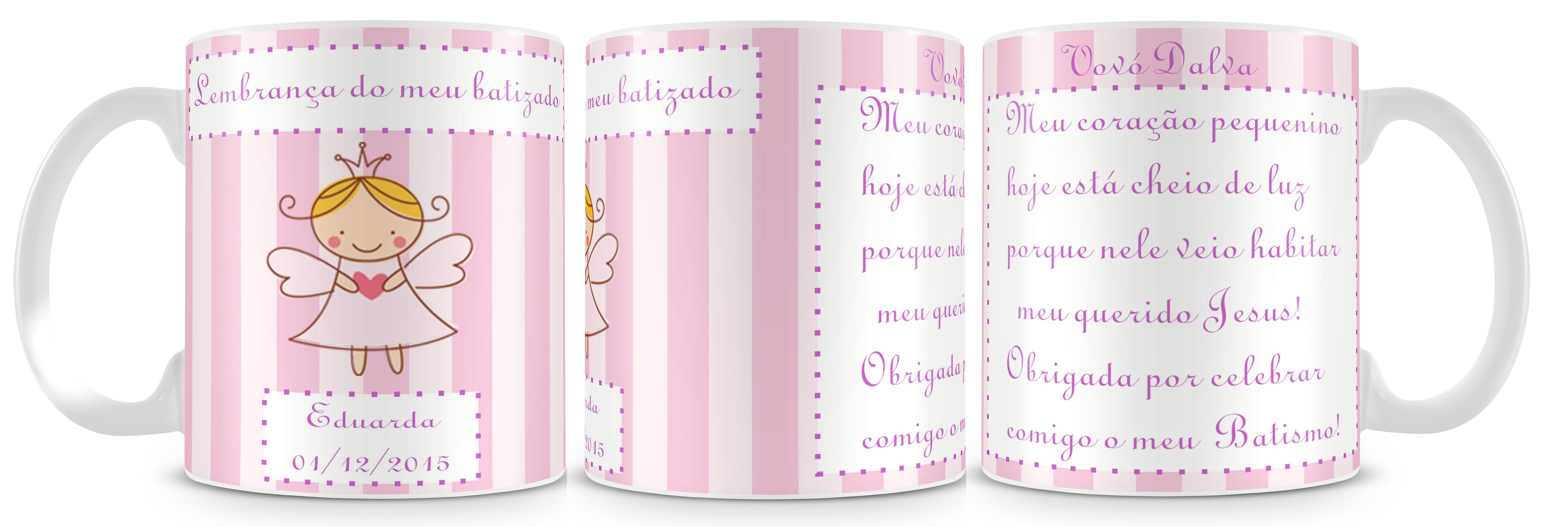 2e583c3e4 Caneca Batizado Meninas Madrinha V.2 no Elo7