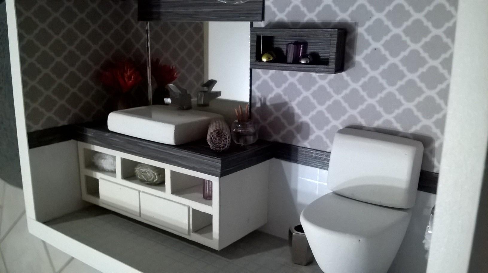 Imagens de #5D606E  moderno com led quadro de lavabo com led em miniatura lavabo moderno  1632x916 px 3692 Banheiros Quadrados Modernos