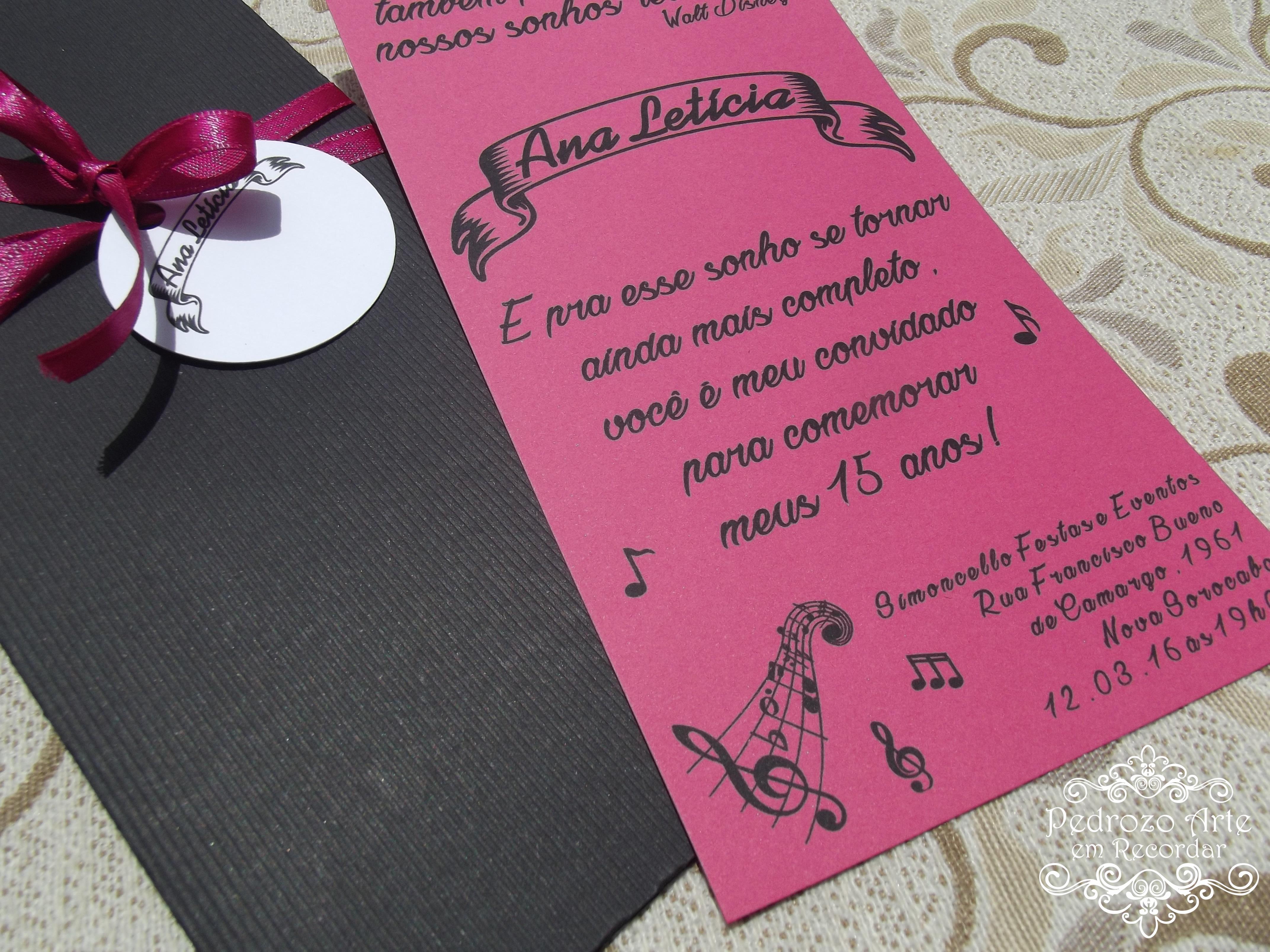 Convite 15 Anos Musica Elo7