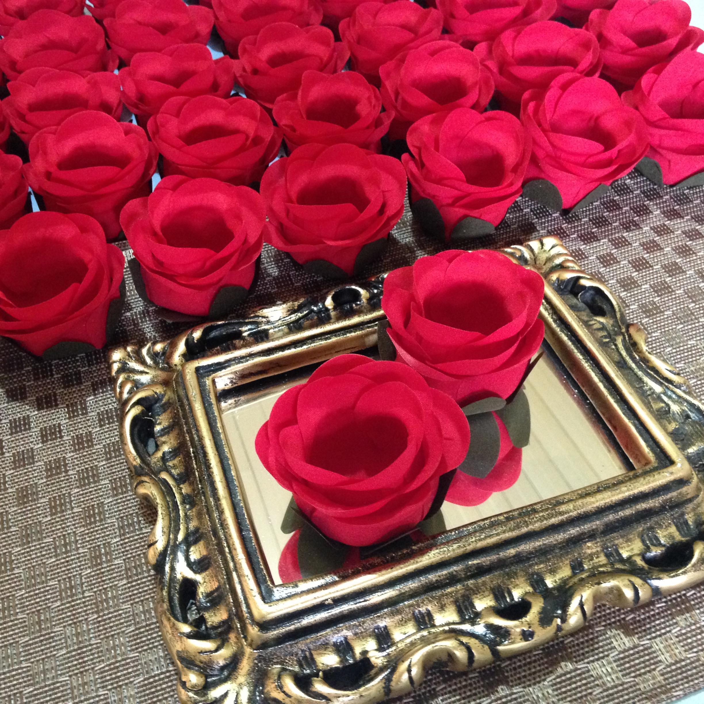 8b10c7eb4 Forminha ROSA BOTÃO   Vermelha RB007 no Elo7