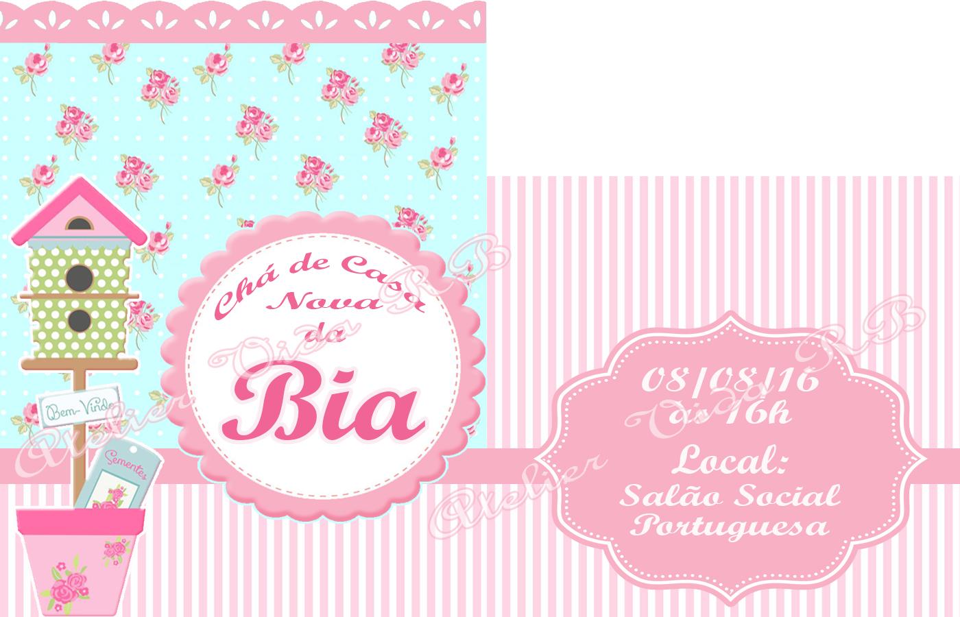 Convite Sachet De Chá De Casa Nova No Elo7 Atelier Vida Rb 681306