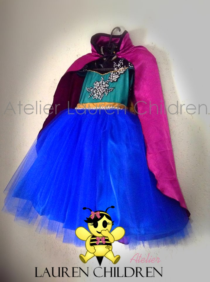 Vestido Infantil Anna Frozen