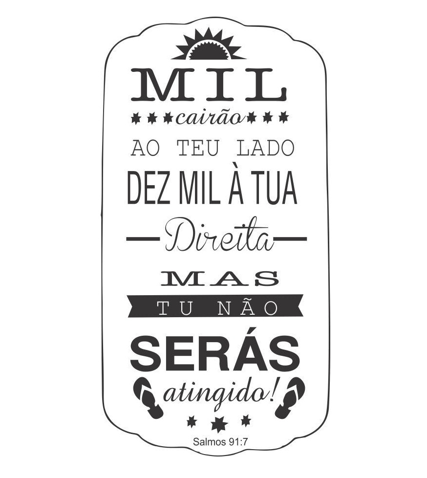Adesivo Decorativo Salmo 91 Mil Cairão No Elo7 Gaudesivos 68a987