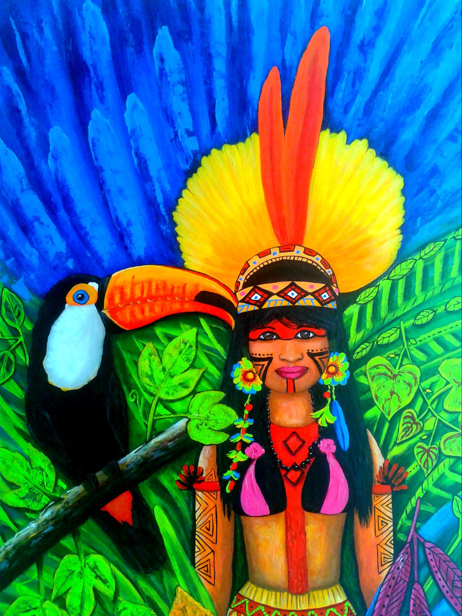 Índios do brasil Índia e tucano no elo7 juliana buglia 68acb2