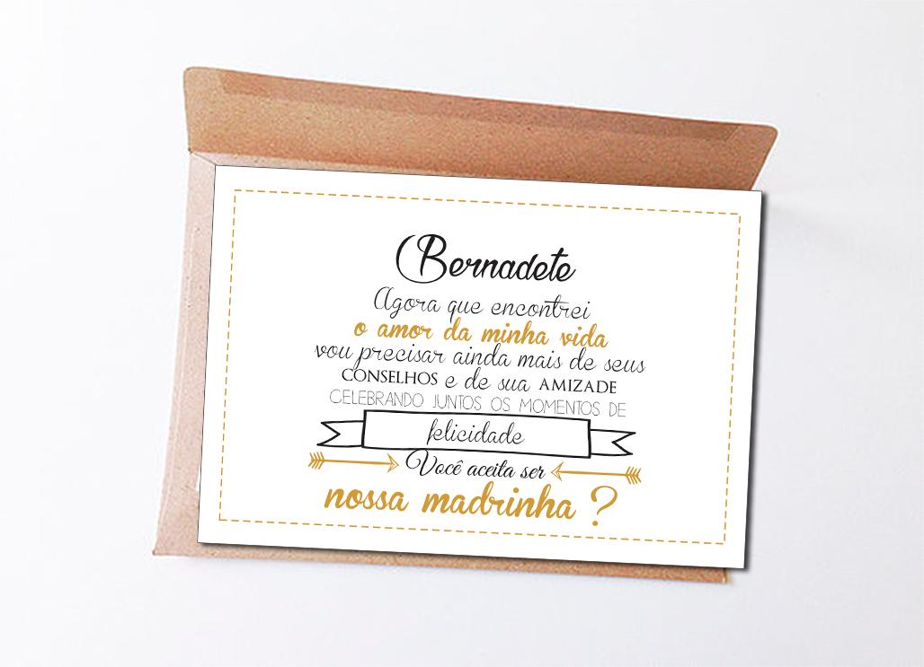 874d856a2 Convite Padrinhos de Casamento - Arte no Elo7