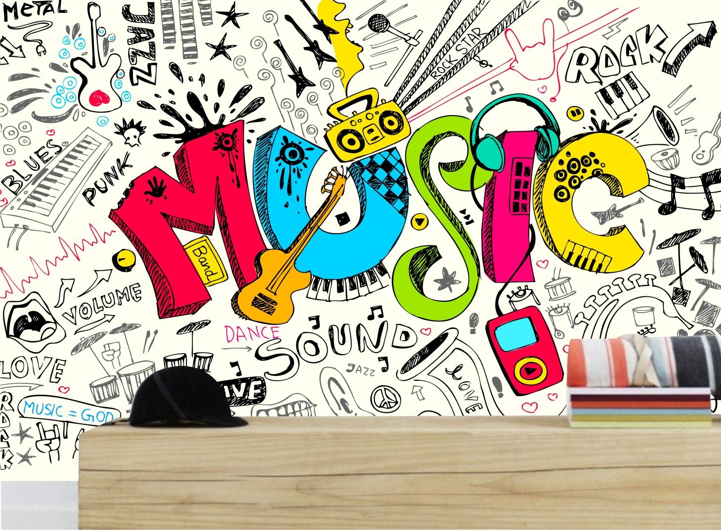 Adesivo Decora O Sala Tv Musica Mod 02 No Elo7 Quartinhodecorado  -> Adesivo Para Decoracao De Sala