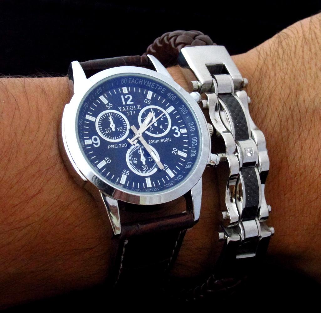 3470777255d Relógio de pulso e pulseira masculina no Elo7