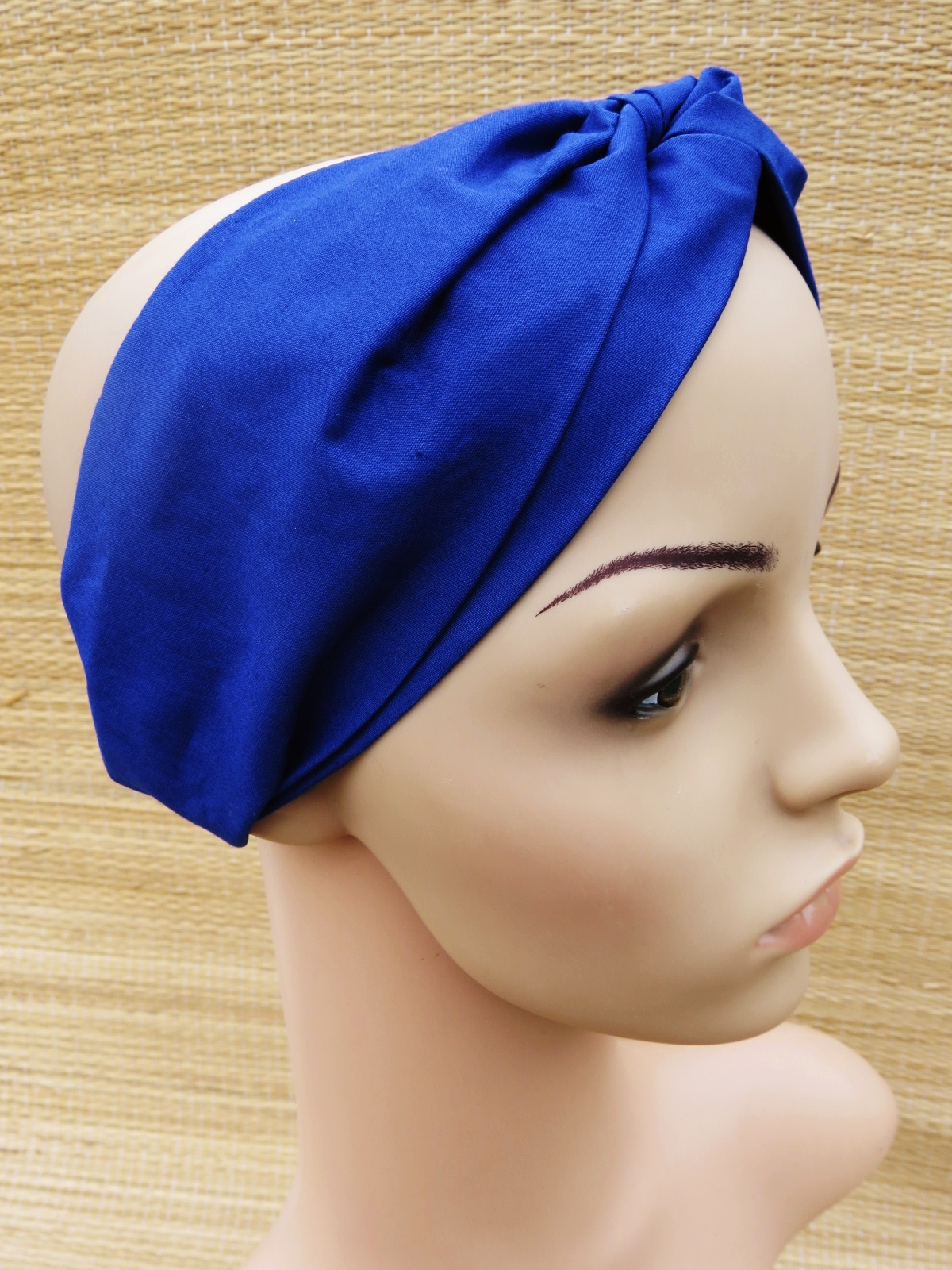 Faixa Turbante  Lisa - Azul Marinho Bic no Elo7  0ad8625a686