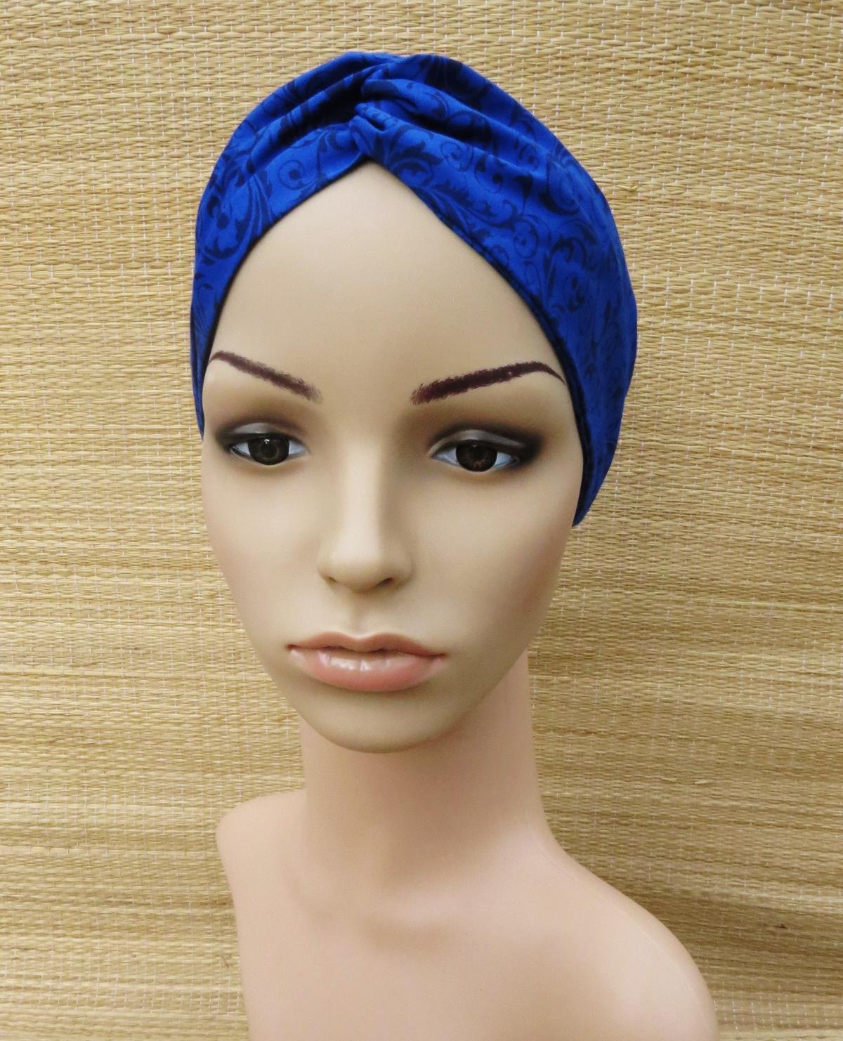 Faixa Turbante  Azul Caneta e Arabescos no Elo7  71071a8b0da
