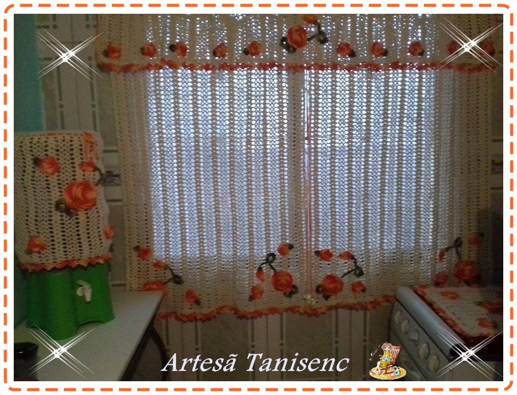 cortina De crochê rosa