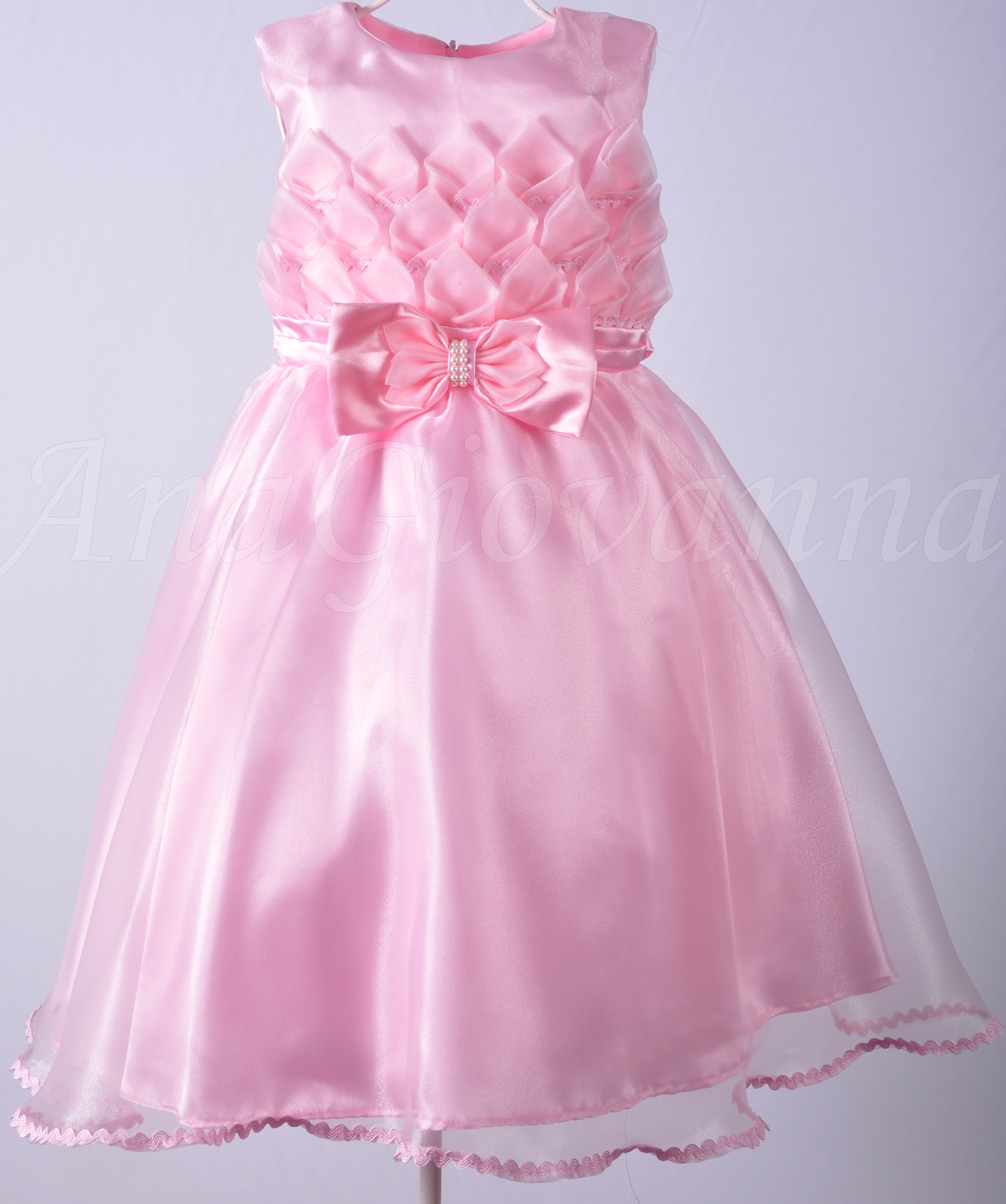 a1eb324673 Vestido Infantil Princesa Rosa no Elo7
