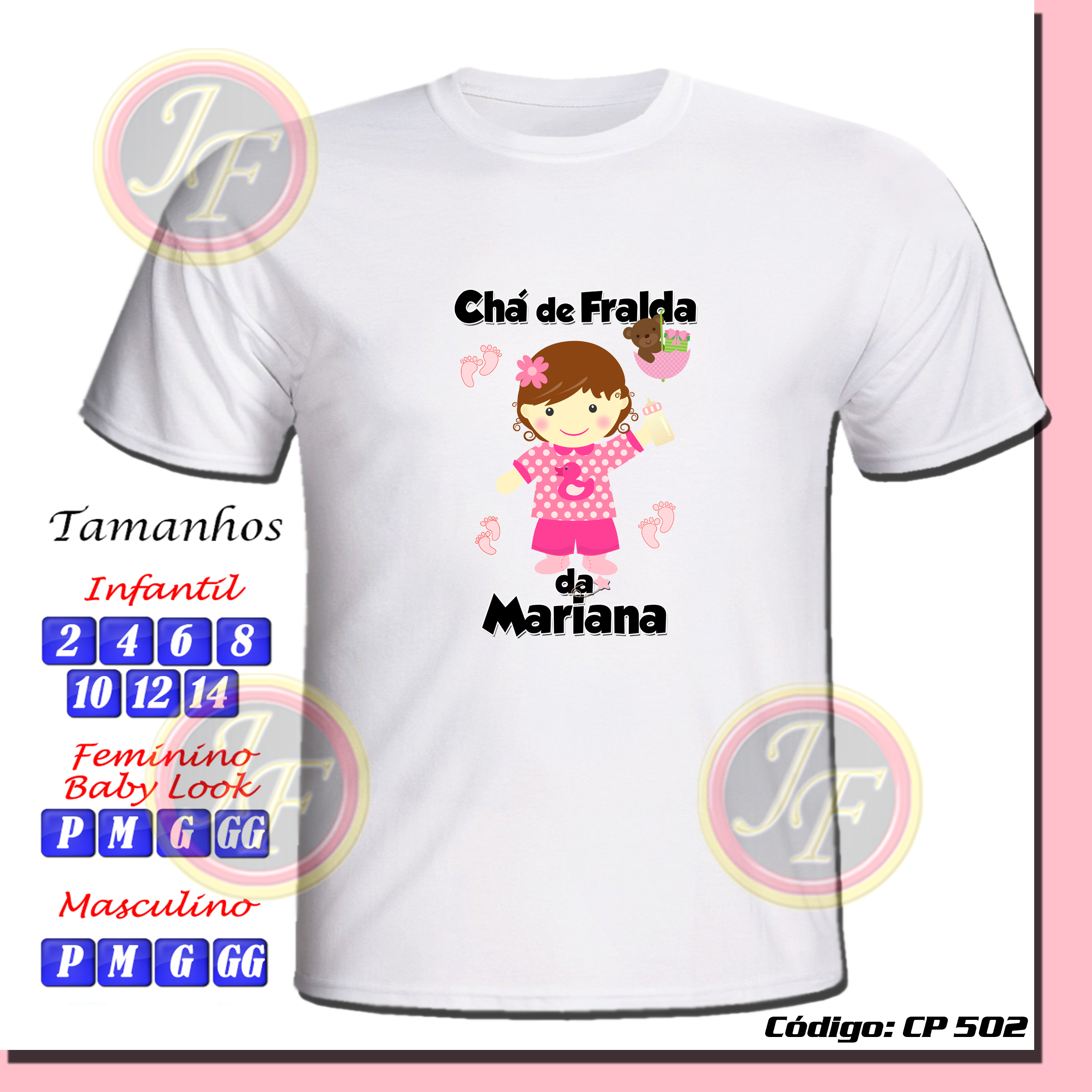 Camiseta Chá De Bebê Personalizada No Elo7 Jfcamisetas 51638f