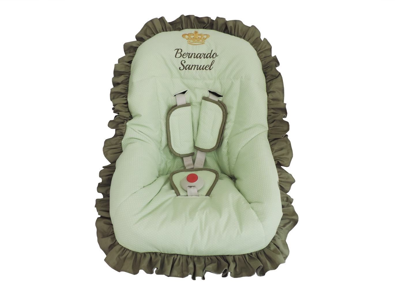 13a305ea1e Capa de Bebe Conforto Verde e Bege