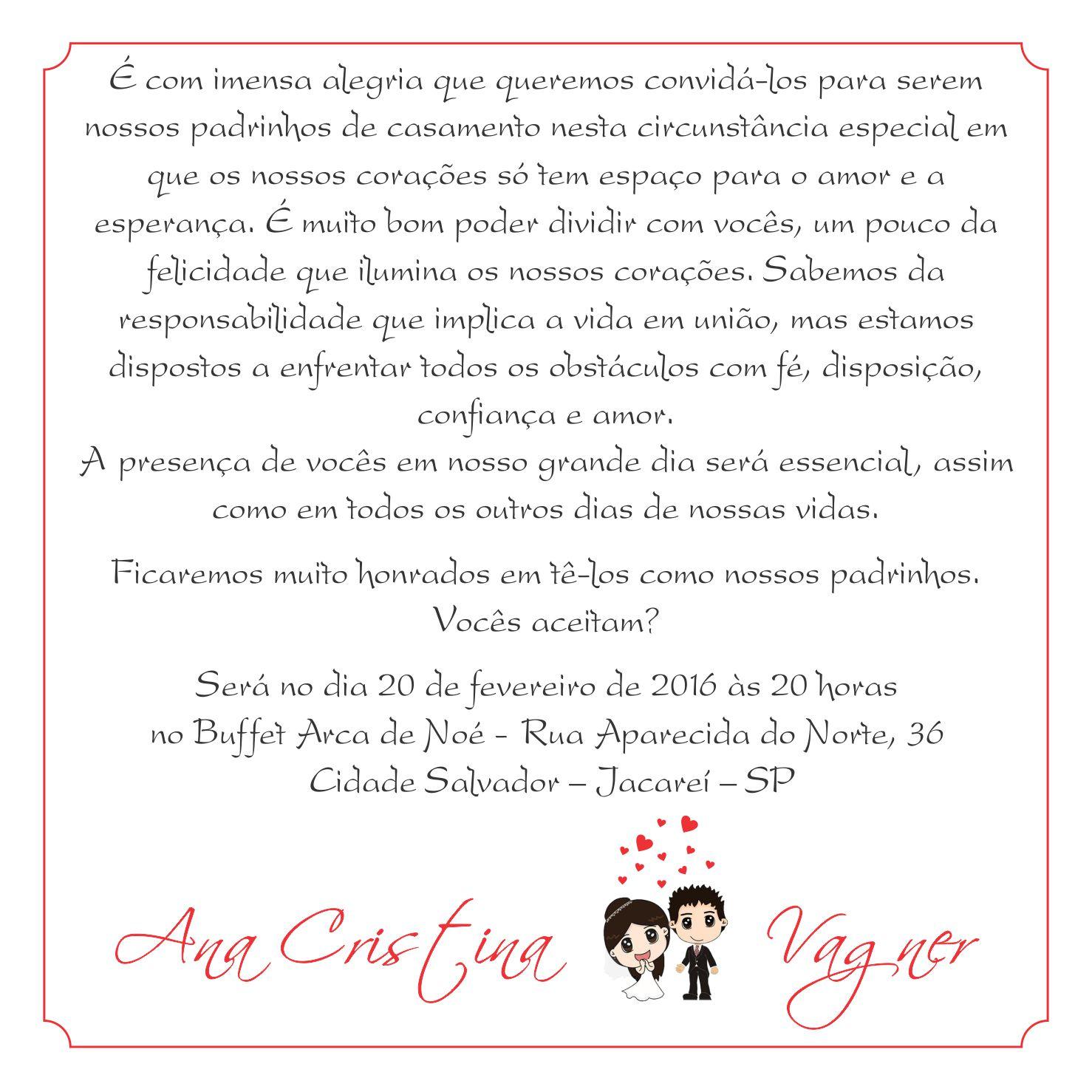Extremamente Frases Para Padrinhos De Casamento Fk46 Ivango
