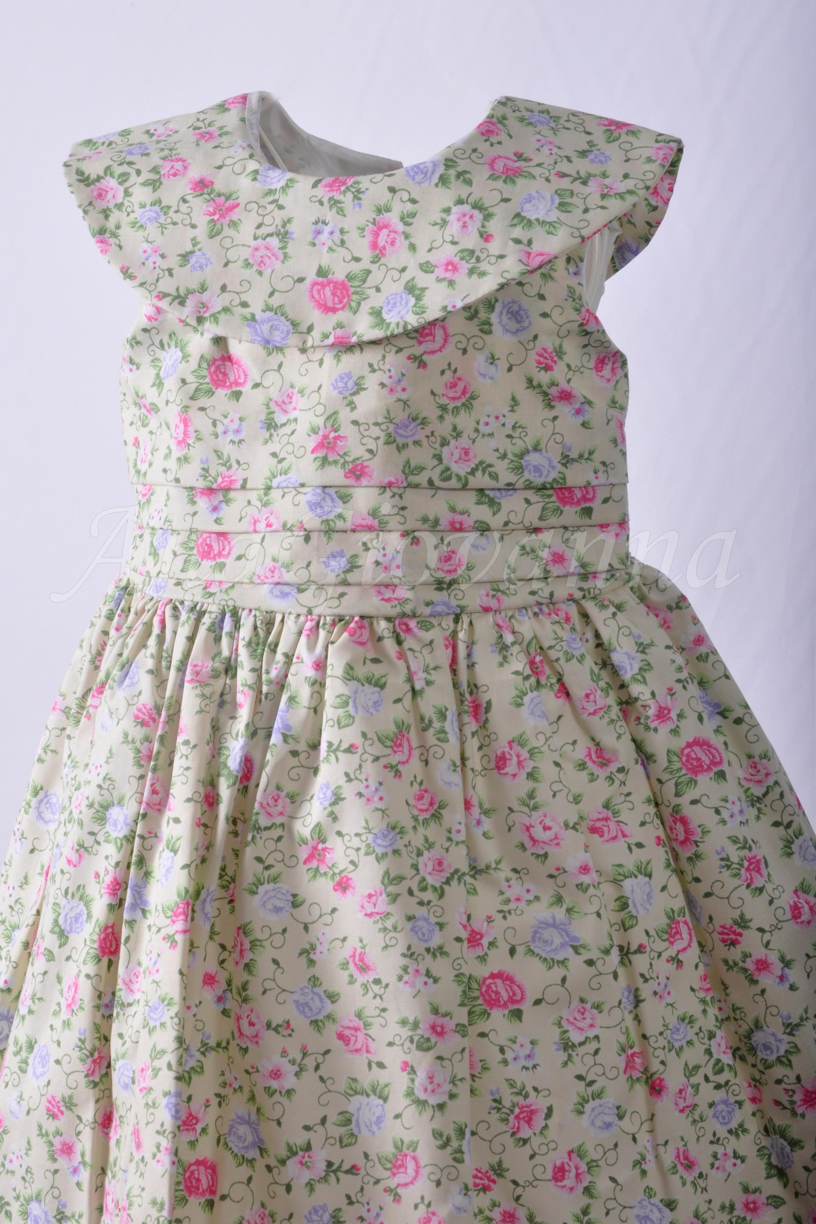 303a0e4a7f3 Vestido Infantil Floral Verde | Elo7