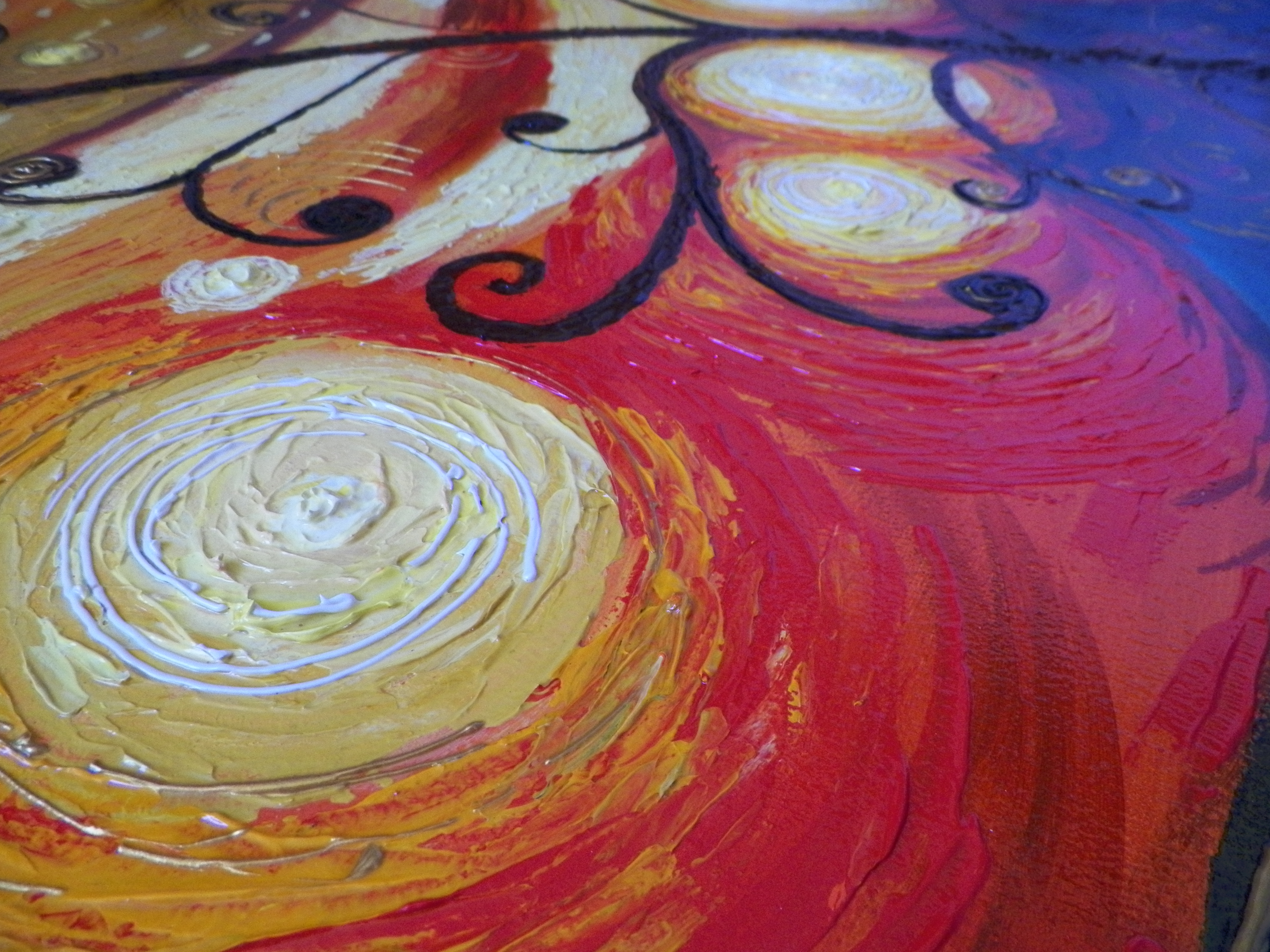 Pintura abstrato em tela