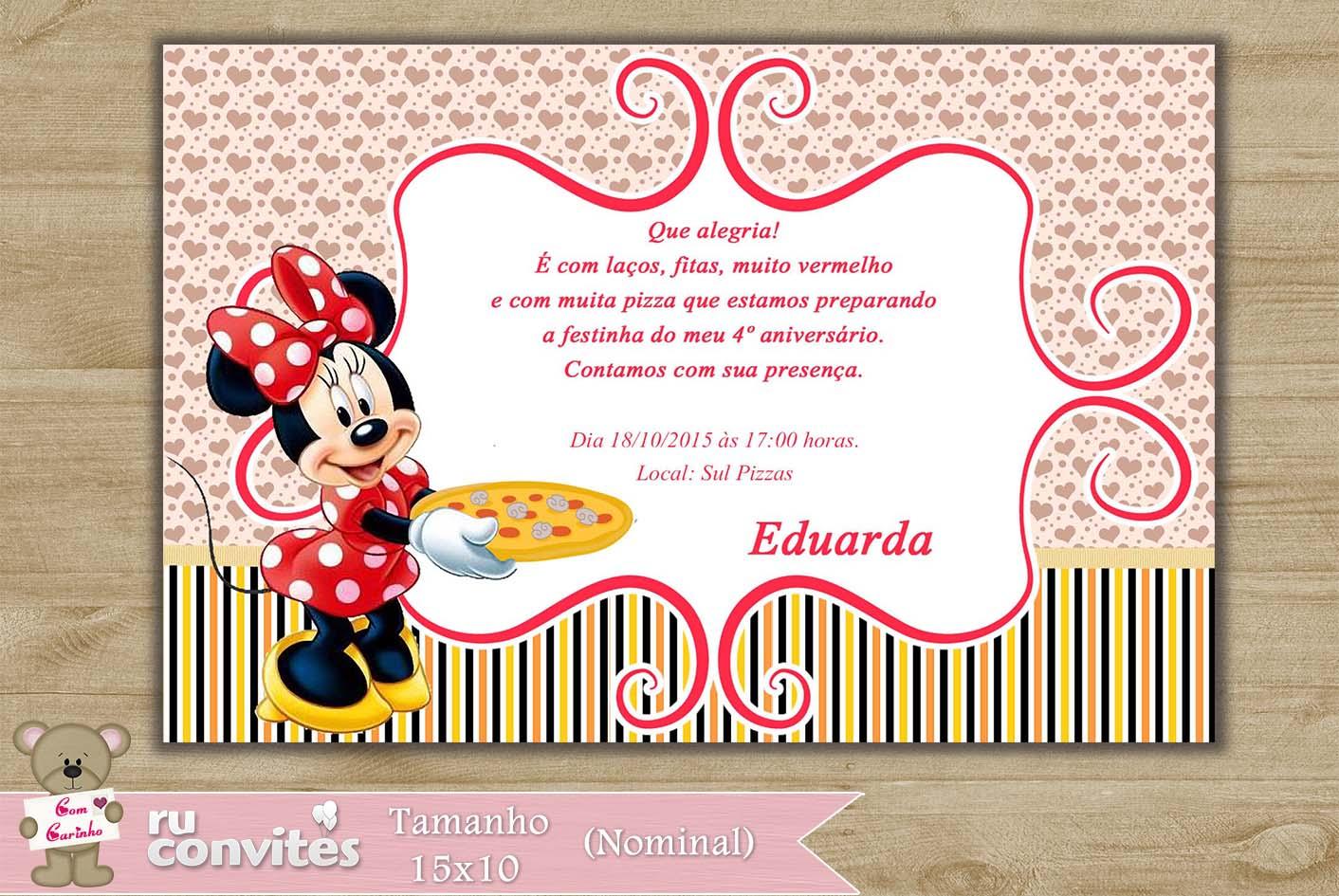 Convite Minnie 540 No Elo7 Ruconvites 4744a9