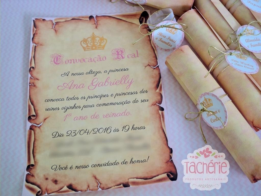 Ideias De Senhas ~ convite pergaminho princesa real Tachérie Produtos Artesanais Elo7