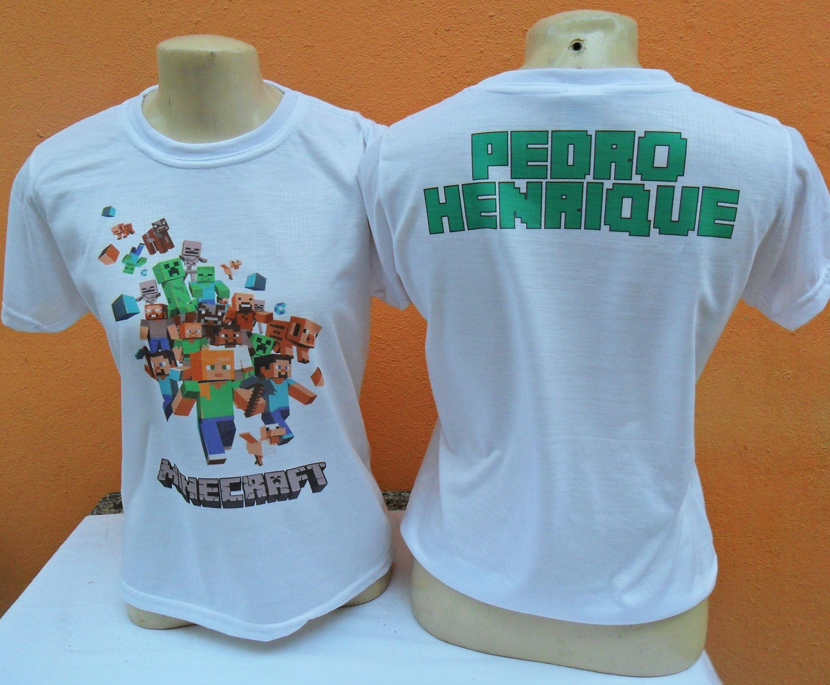 Camisa para Criança Minecraft  14de31c4b914d