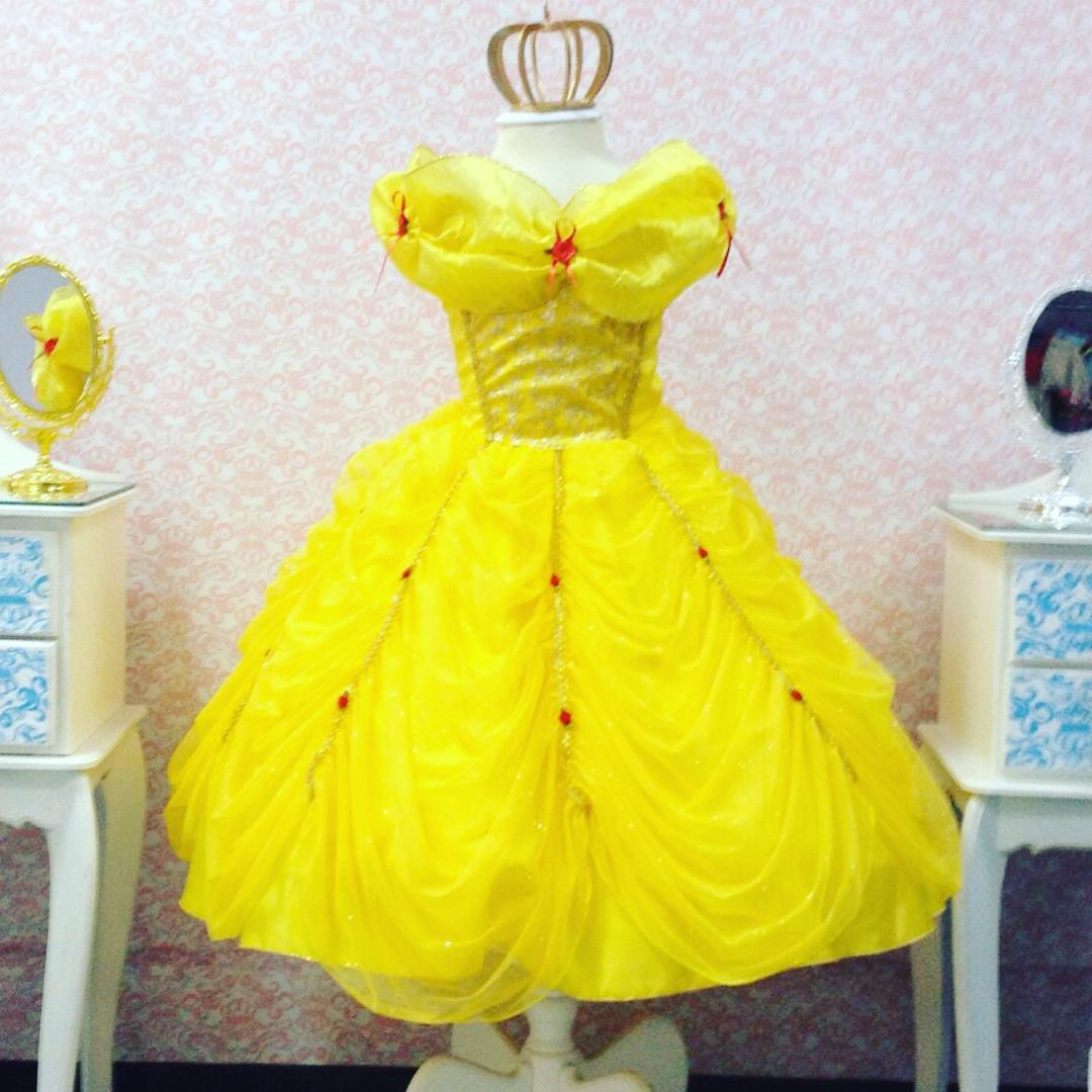 2e7769d44f1 Vestido Bela e a Fera Super Luxo Amarelo