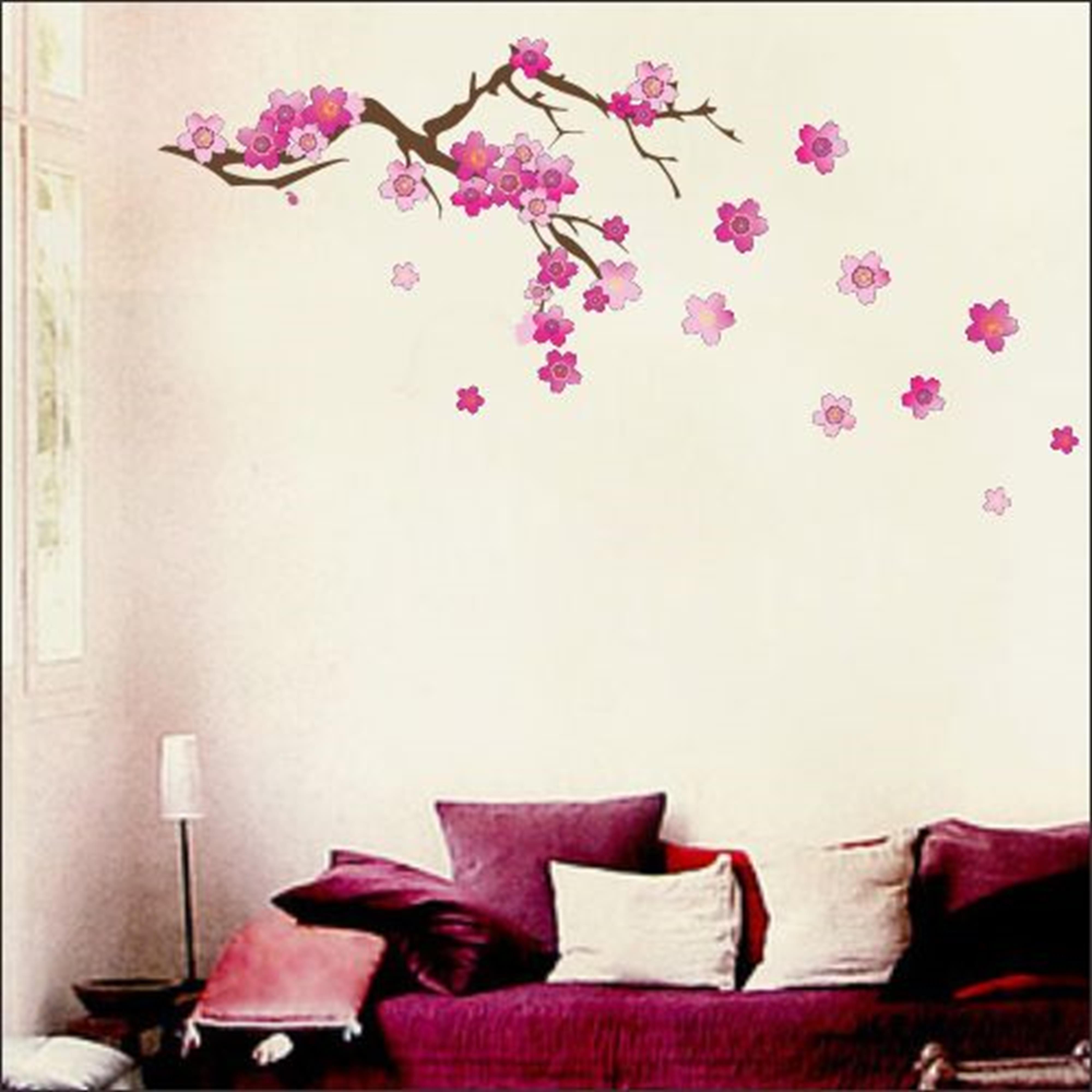 Adesivo Parede Flores De Cerejeira No Elo7 Artm Decora O Criativa  -> Adesivos Para Parede Sala De Tv