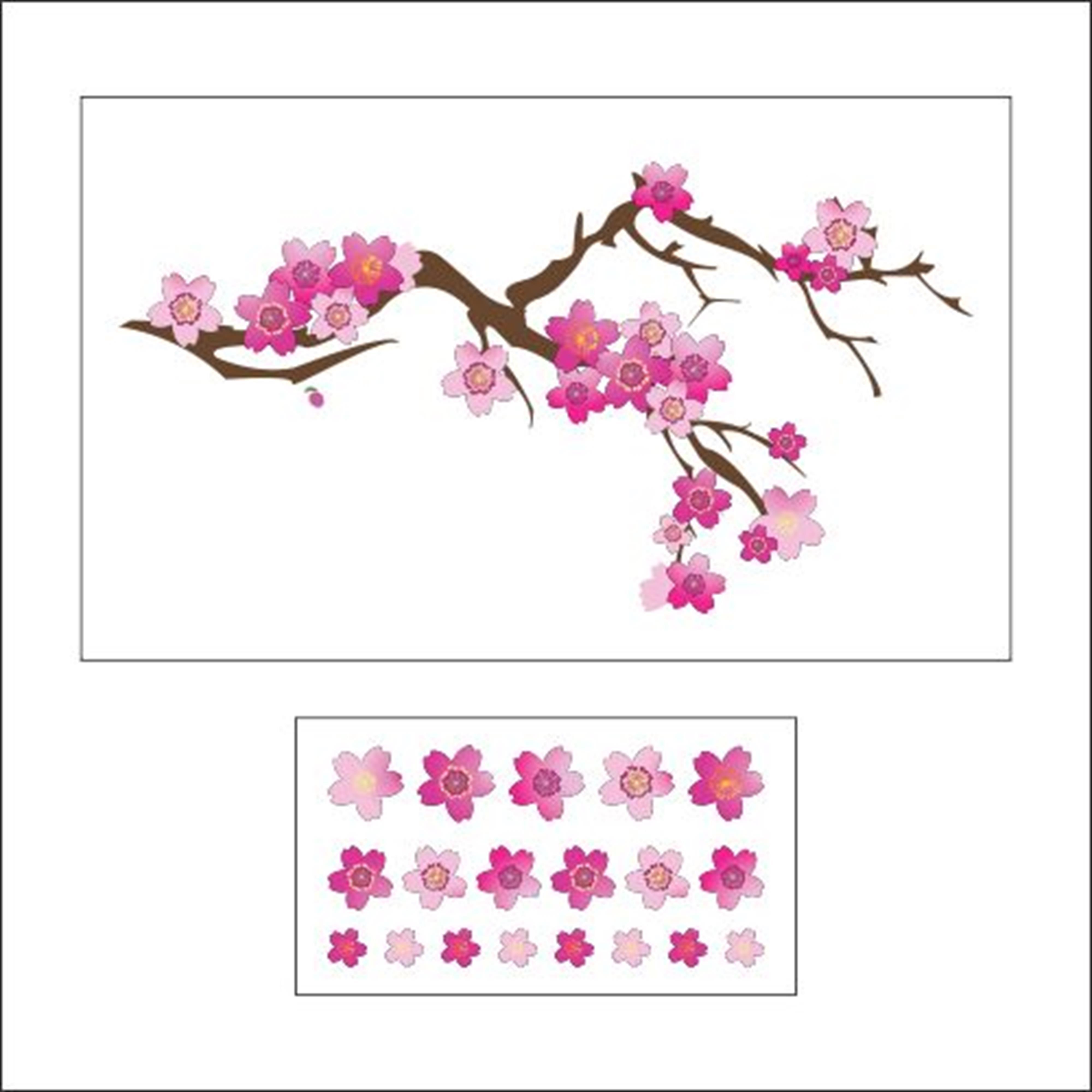 Adesivo De Flor Cerejeira ~ Adesivo Parede Flores de Cerejeira ARTM decoraç u00e3o criativa Elo7