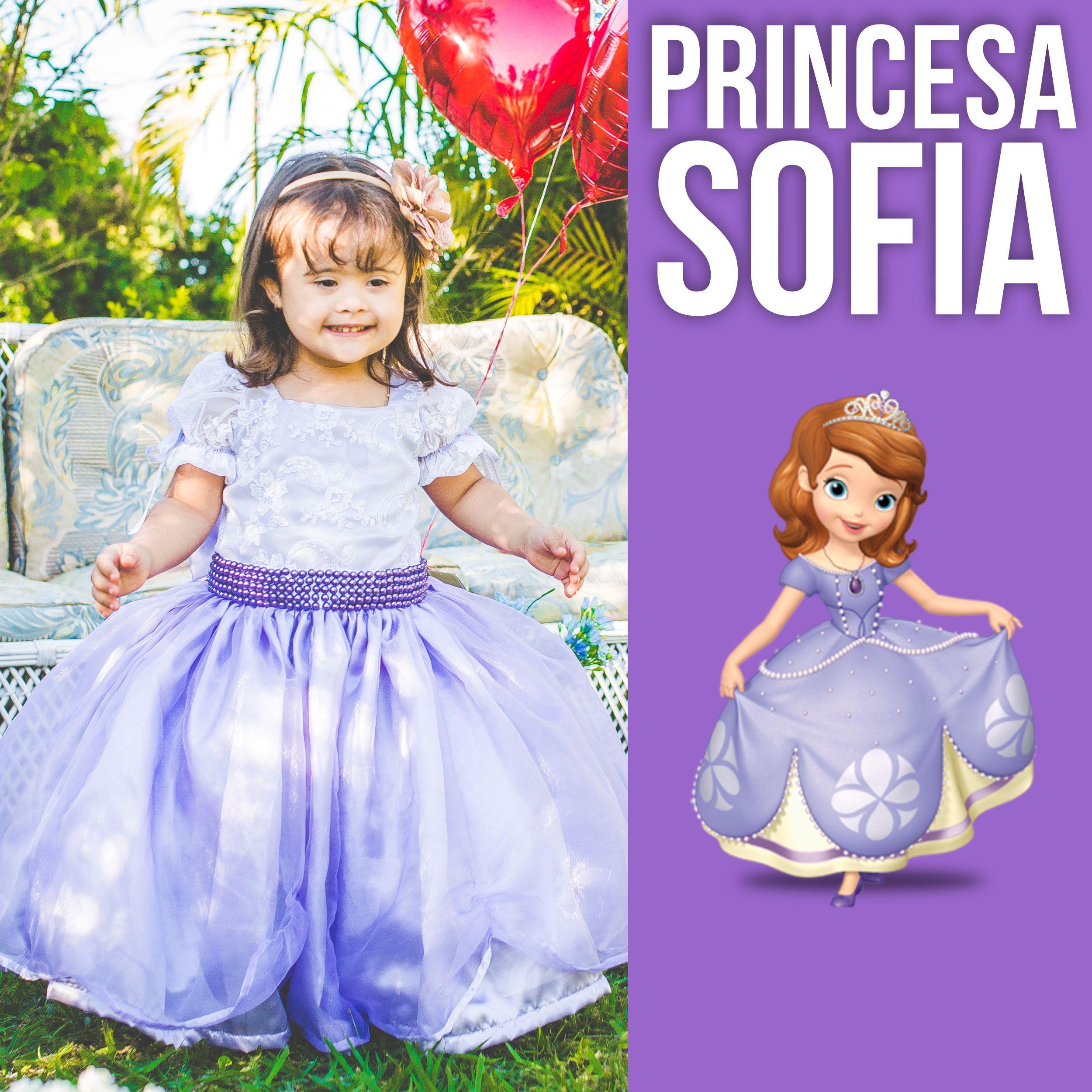 1da58c077e Vestido de Luxo Princesa Sofia - Infanti no Elo7