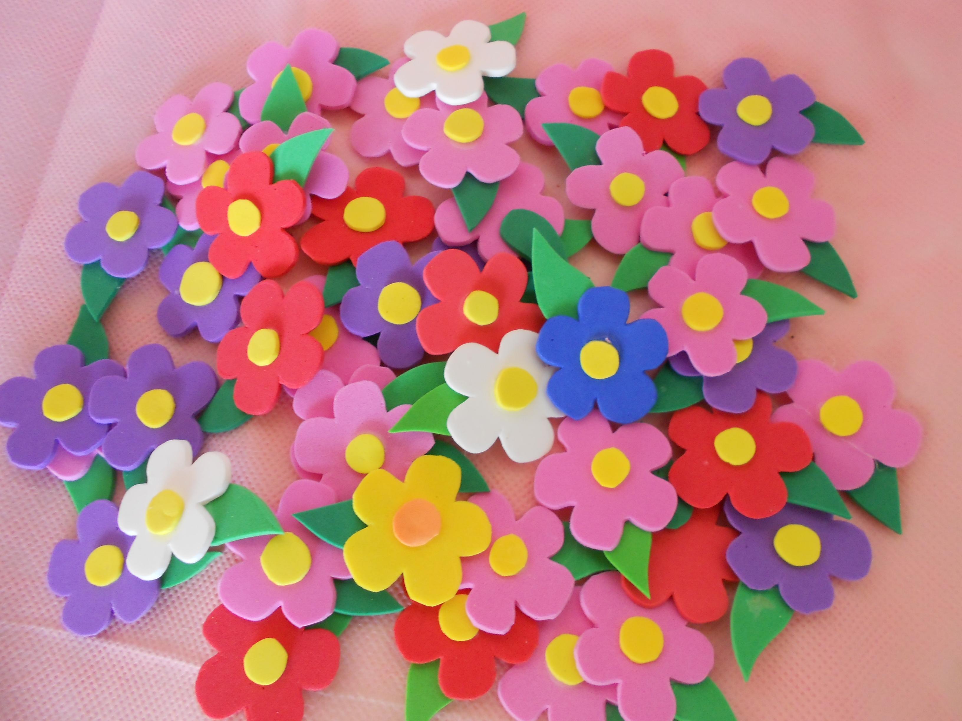 Aplique Flor Pequena De Eva No Elo7 Petit Gateau Eventos 6b47e0