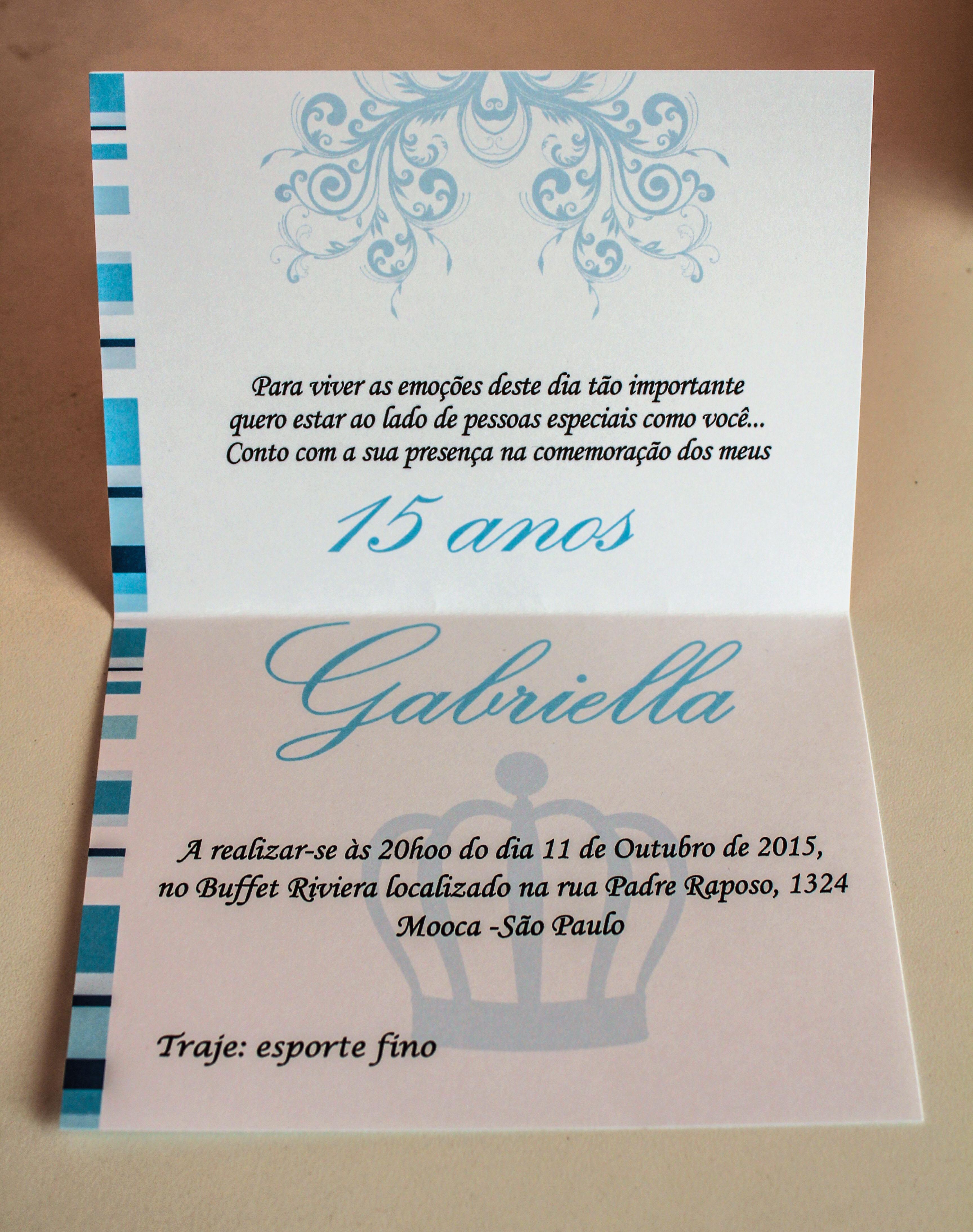 Convite De 15 Anos Personalizado Azul No Elo7 Virtualgotashop 5aded8