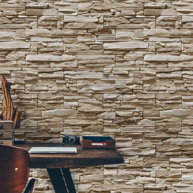 Papel de parede pedras canjiquinha 19 qcola elo7 - Paredes de papel ...