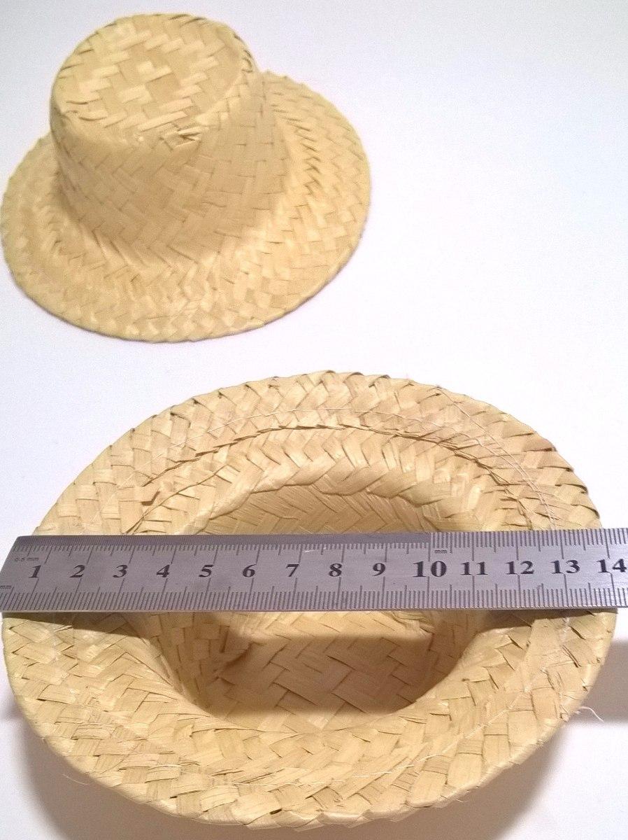 eb50e209a5018 Chapéu de palha boneca 5 unidades no Elo7