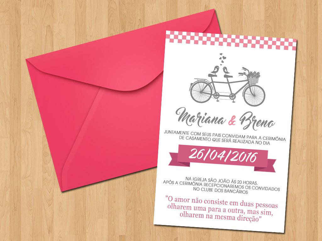 Convite Casamento Simples Bicicleta No Elo7 Ideal Convites 6b9d74