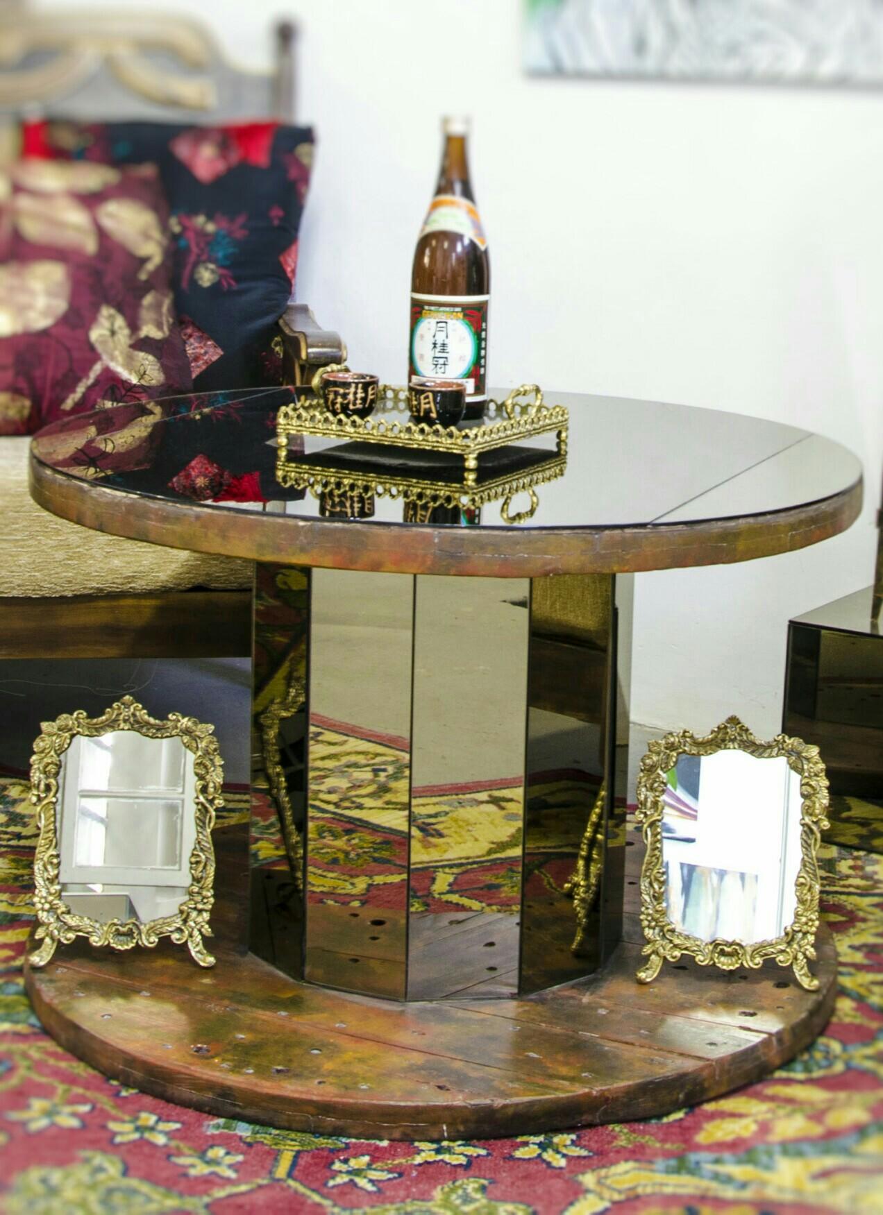Carretel Madeira Espelhado X On Decor Elo7
