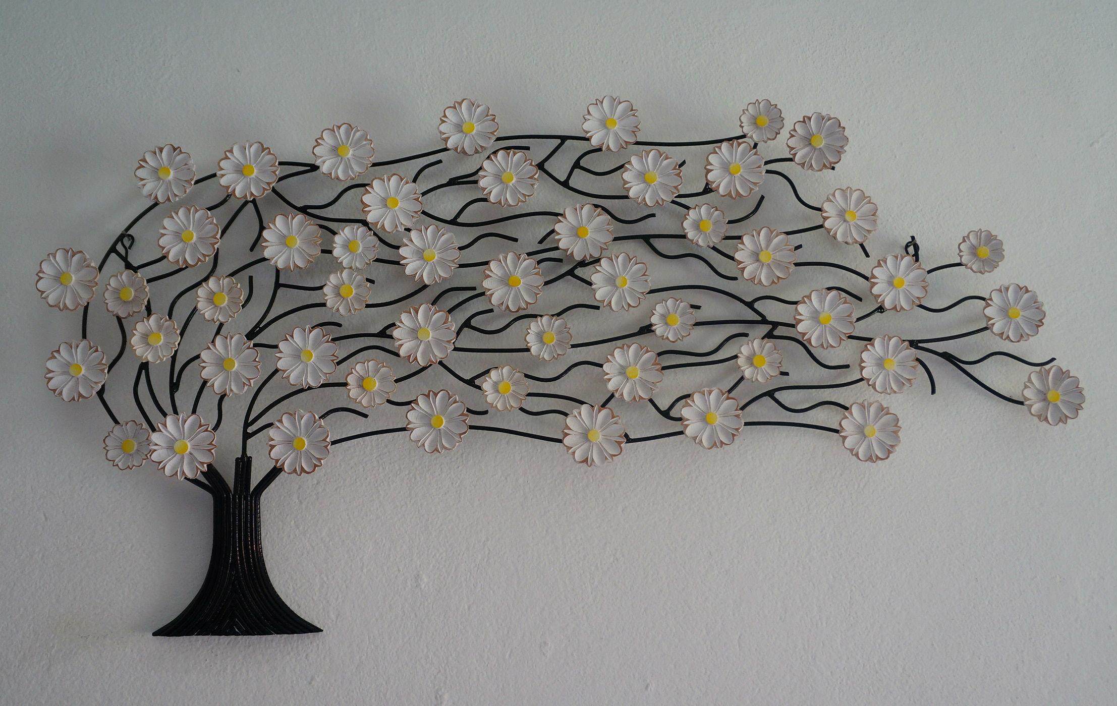 Artesanato Indiano ~ Árvore de ferro com flores patinadas Tr u00eas Arcanjos Artesanato Elo7