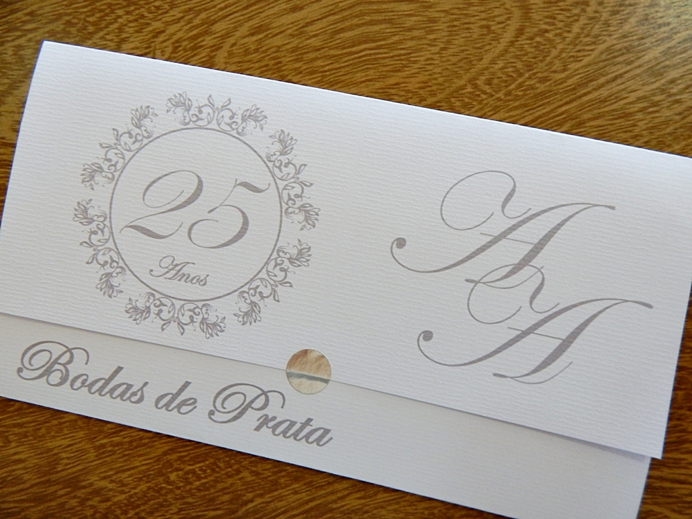 Convite Bodas De Prata Personalizado Elo7