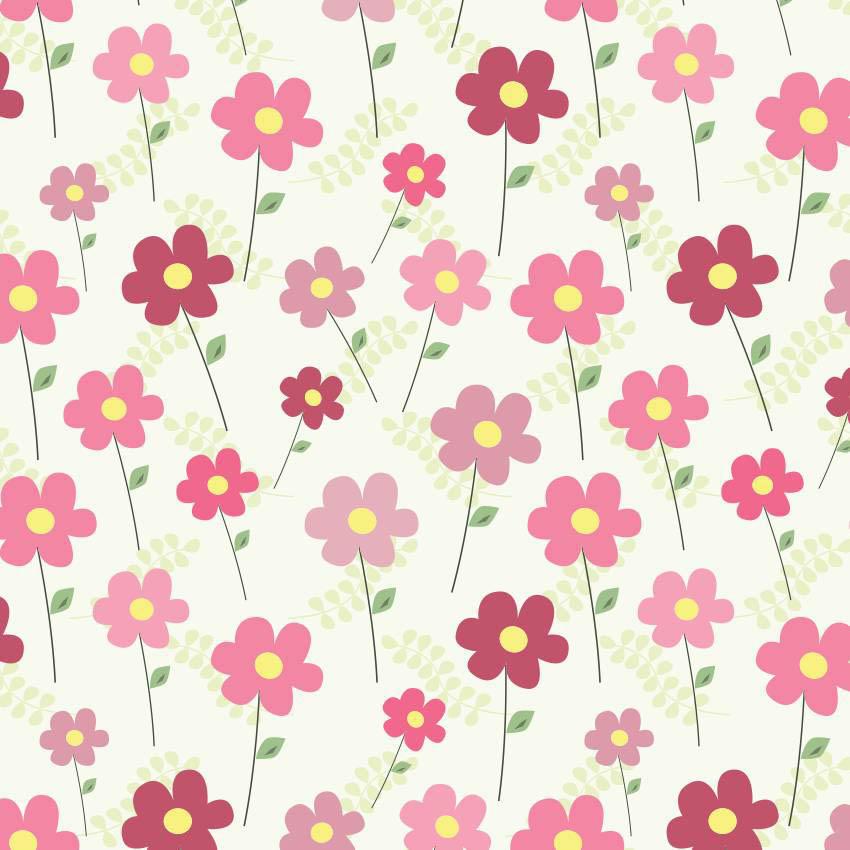 Papel de parede flores simples jmi decor elo7 - Papel decorado para paredes ...
