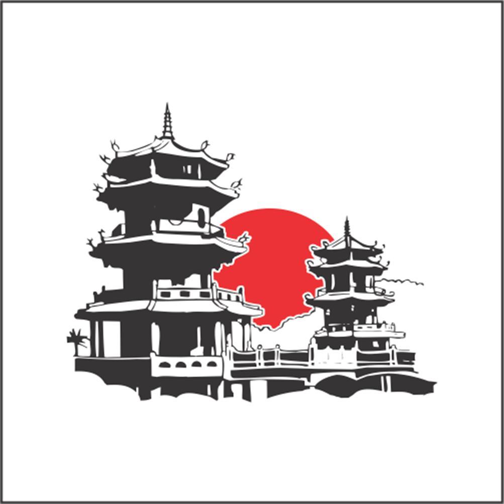 adesivo de parede templo oriental no elo7 artm decoração criativa