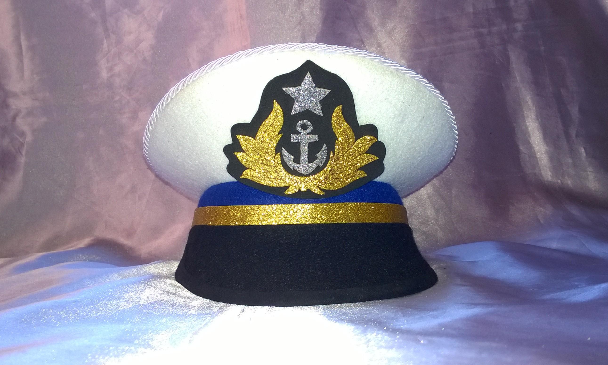 Quepe da Marinha em E.v.a e Feltro no Elo7  6649c71572f