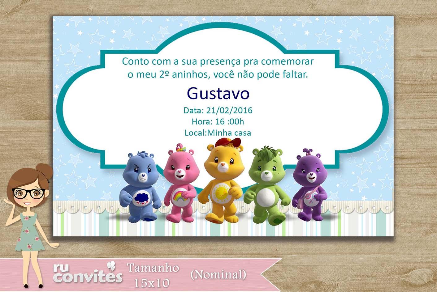 Convite Ursinhos Carinhosos 118
