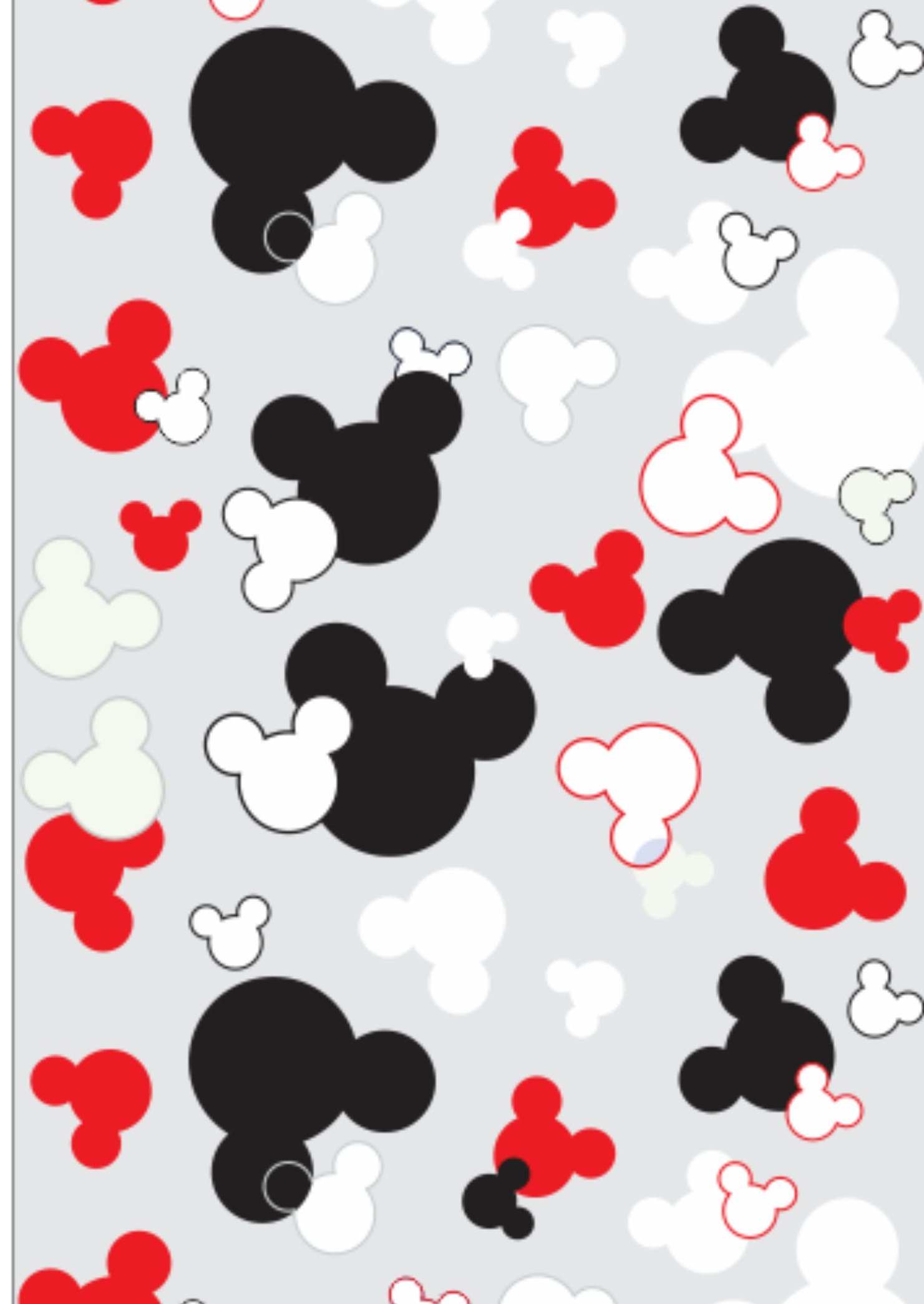 Papel de parede disney mickey mouse 02 crie decore elo7 - Papel para paredes decorativo ...