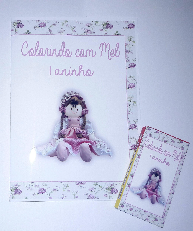 Livro Para Colorir Boneca De Pano No Elo7 Motis Personalizados
