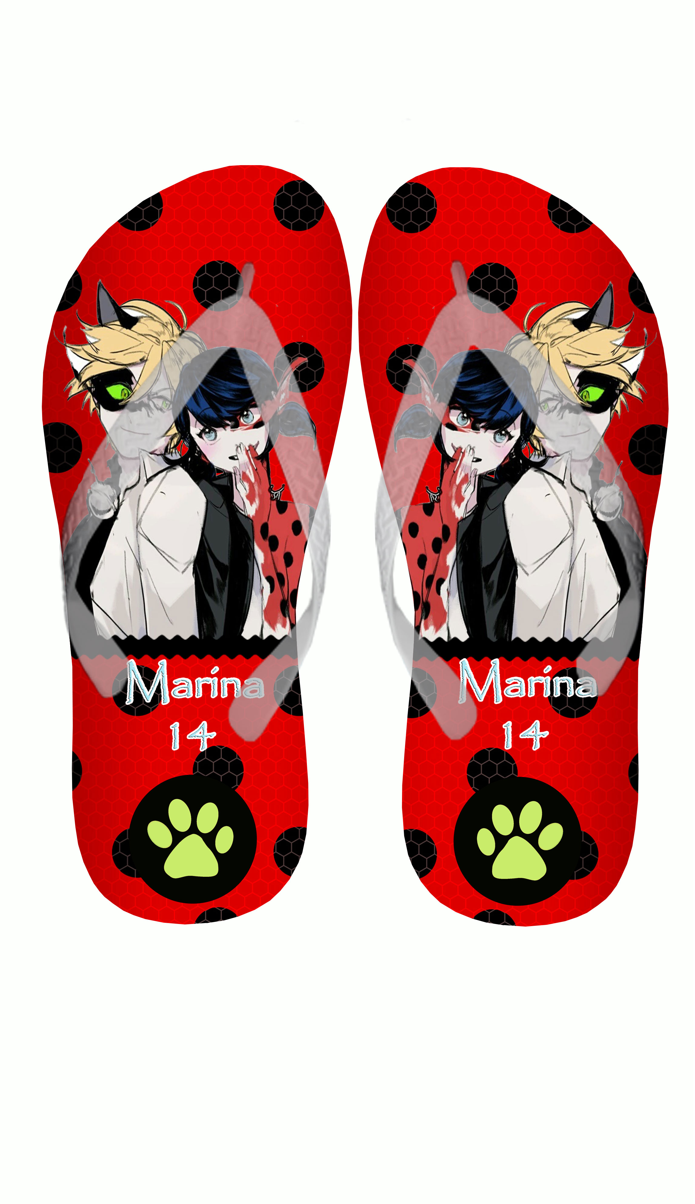 Well-known Chinelo Miraculous Ladybug Personalizado | Fabrica dos  JV58