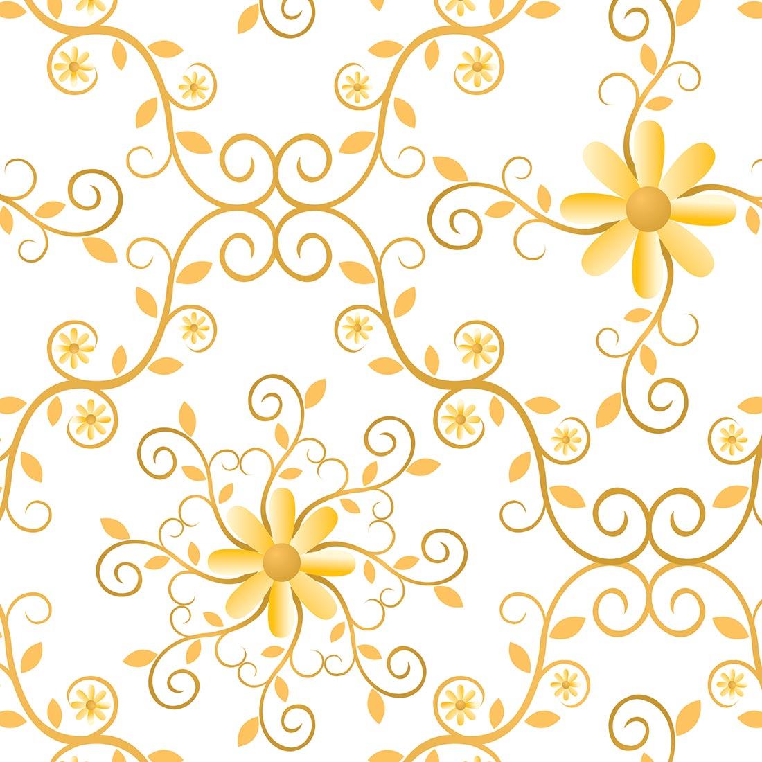Papel de parede floral com arabesco em t jmi decor elo7 for Papel de pared rustico