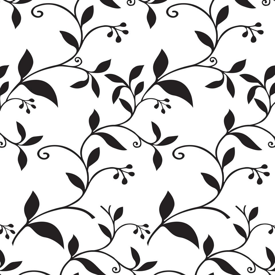 Floral com detalhes na cor preto e fundo jmi decor elo7 for Papel de pared negro