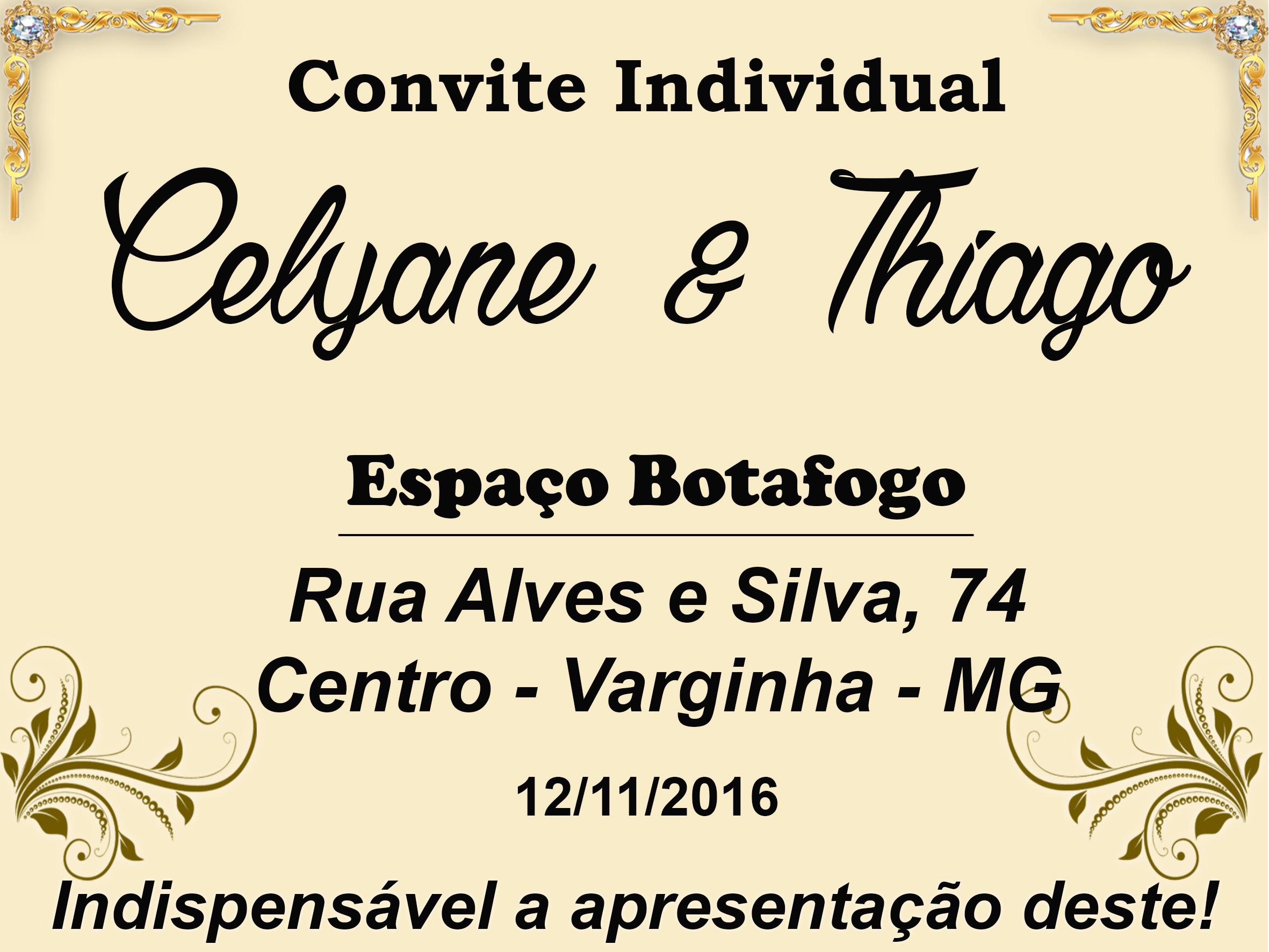 Convite Individual Para Recepção De Casamento Elo7