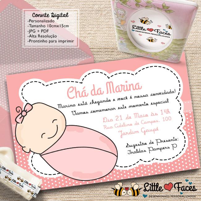 Convite Cha De Bebe Menino Para Imprimir No Elo7 Littlefaces