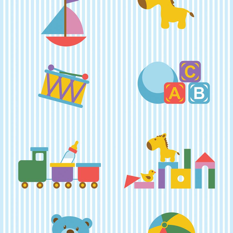 Papel de parede desenhos de brinquedos c jmi decor elo7 for Papel pared personalizado foto
