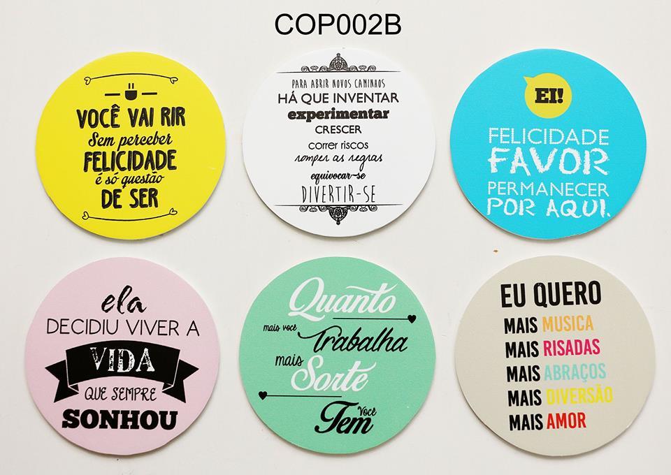 Jogo Porta Copos Frases 06 Pçs Cop002b No Elo7 Mimô Já Mimou