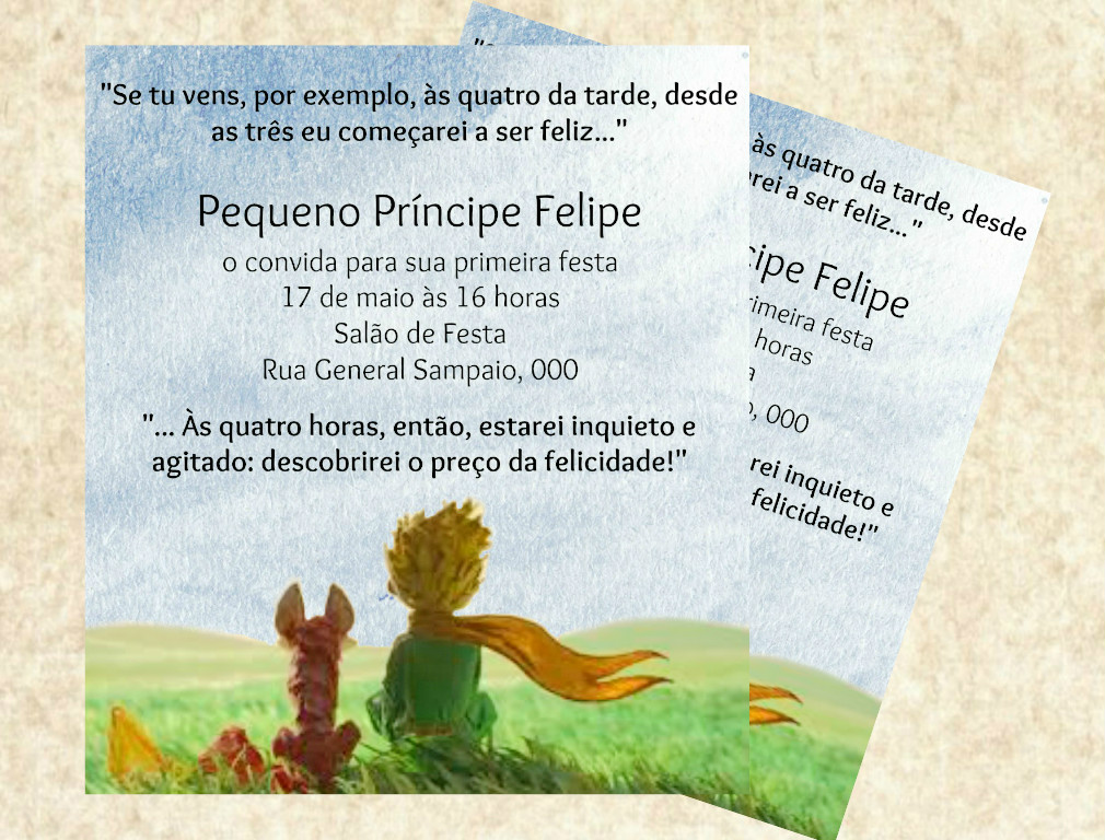 Convite Digital Pequeno Príncipe No Elo7 Amora Pink Designer Aa0f9e