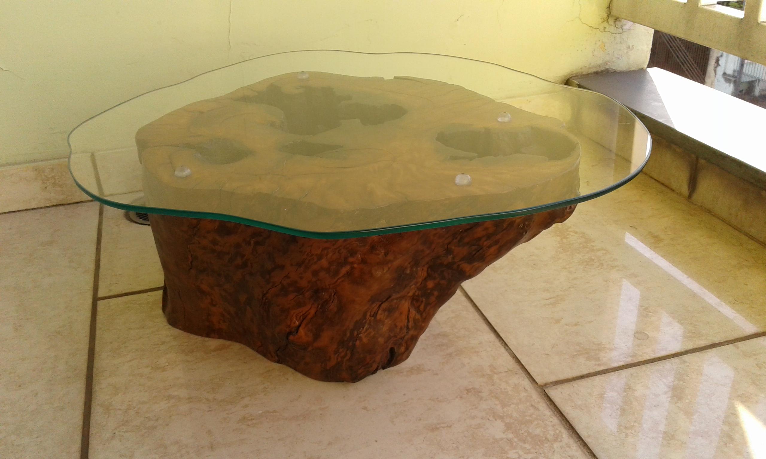 Mesa de centro em tronco madeira cristina fabregas olive for Mesas de troncos de arboles
